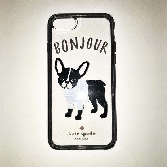 buy popular b359f ec01a Kate Spade French Bulldog iPhone Case